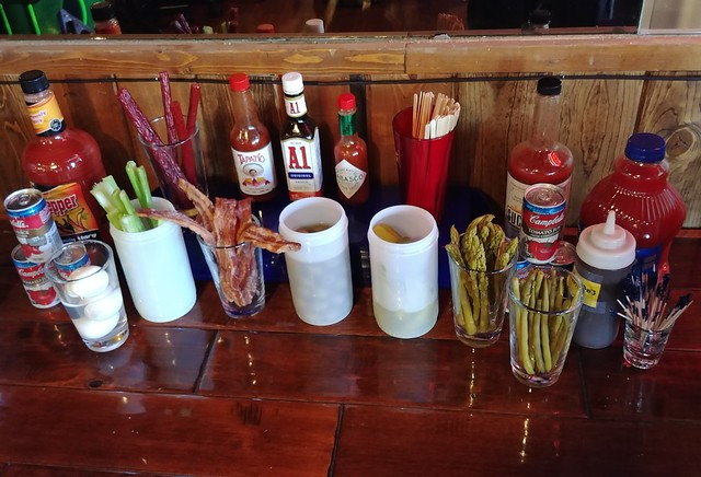 New build-your-own bloody Mary bar at Harvey's