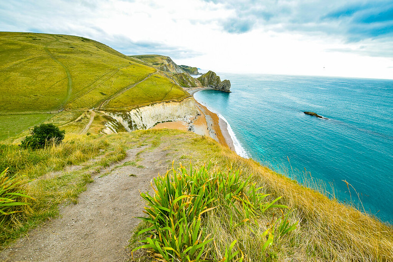 Long-distance walk UK - Durdle Door on the Jurassic Coast