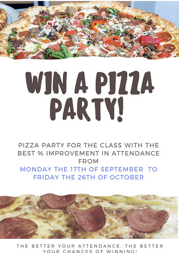 win a pizza party!