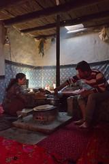 Inside the kitchen of a traditionnal Wakhi house  in Chapursan valley 06/08/2018 :copyright: Bernard Grua