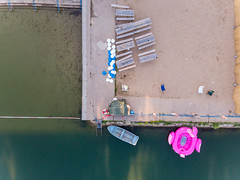 Artificial beach at Weißer See in Berlin