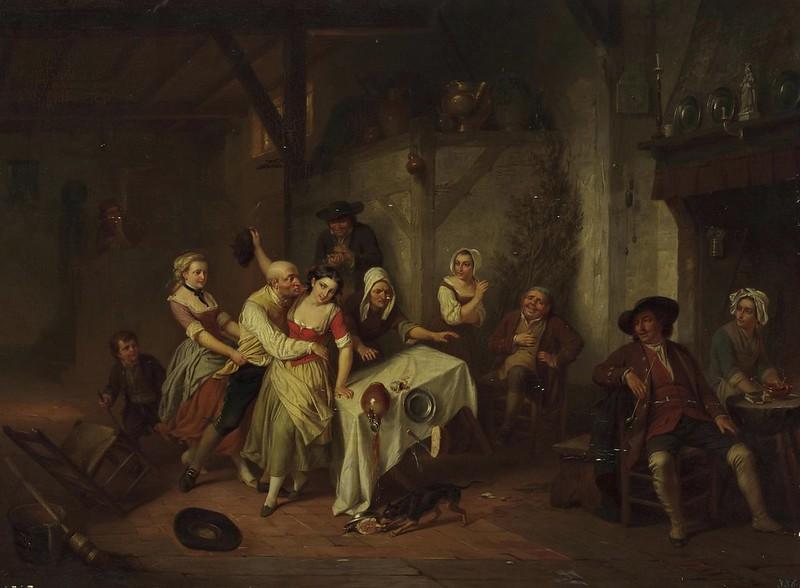 Hendrick Joseph Dillens - Scene in a tavern