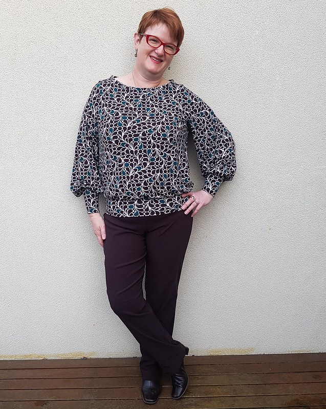Pattern Emporium True Romance blouse in rayon spandex knit