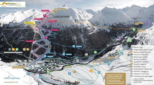 Pfelders - mapa sjezdovek