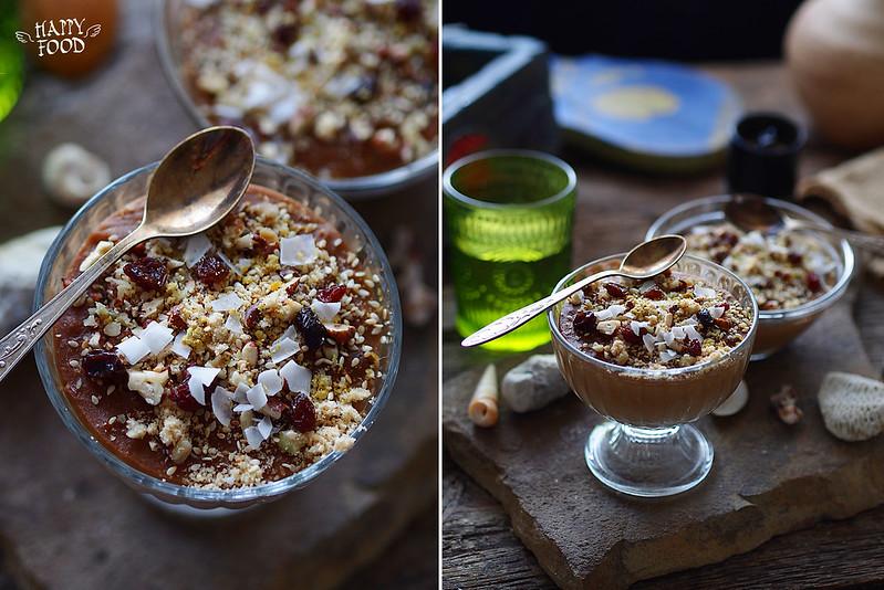 Греческий крем-десерт с пшеницей и тахини
