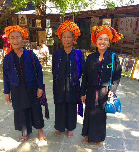 Pa-o tribe hill women @Htilominlo Temple