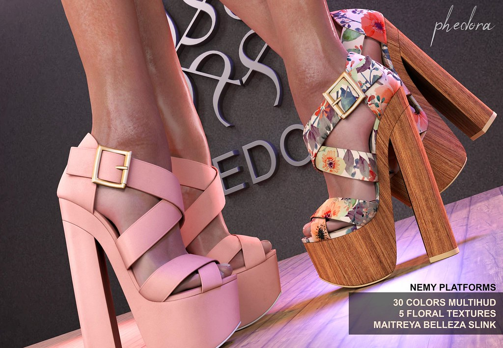 "Phedora. for Tres Chic Event- ""Nema"" platforms ♥"