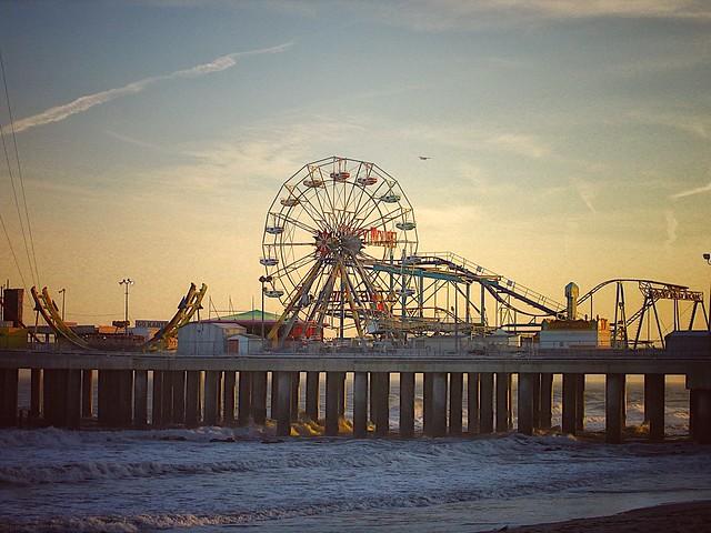 Steel Pier at Twilight