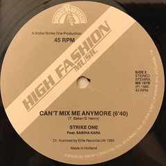 STRIKE ONE:CAN'T TOUCH ME ANYMORE(LABEL SIDE-B)