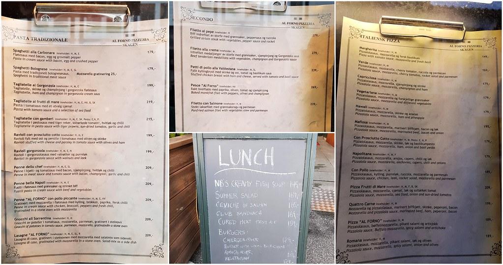 Ceny w restauracji w Stavanger