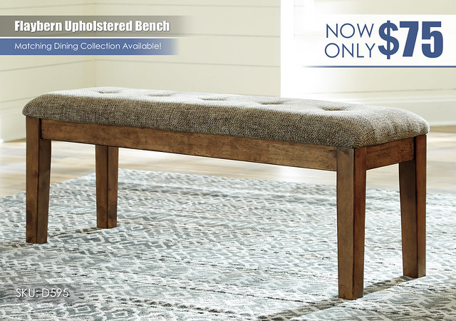 Flaybern Upholstered Bench_D595-00