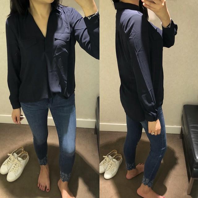 Ann Taylor Camp Shirt, size XSP