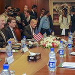 """Secretary Pompeo traveled to Islamabad, Pakistan, on September 5. In Islamabad he met with Pakistan's new Prime Minister Imran Khan, Foreign Minister Qureshi, and Chief of Army Staff Bajwa to discuss U.S.-Pakistan bilateral relations and potential areas for cooperation.  The United States is pleased to announce that the inaugural U.S.-India """"2+2"""" Dialogue will be held in New Delhi, India, on September 6. Secretary Pompeo and Secretary of Defense James Mattis look forward to meeting with their Indian counterparts, Minister of External Affairs Sushma Swaraj and Minister of Defense Nirmala Sitharaman, to discuss strengthening strategic, security, and defense cooperation as the United States and India jointly address challenges in the Indo-Pacific region and beyond."""