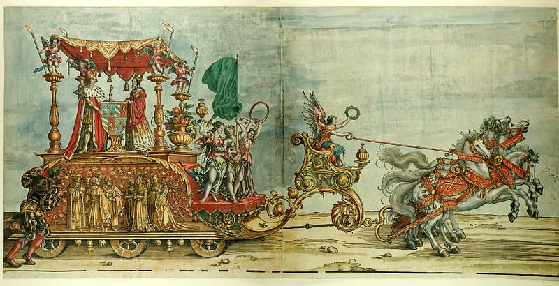 Triumphzug Kaiser Maximilians I, 1526, f. 39, Universitätsbibliothek Graz