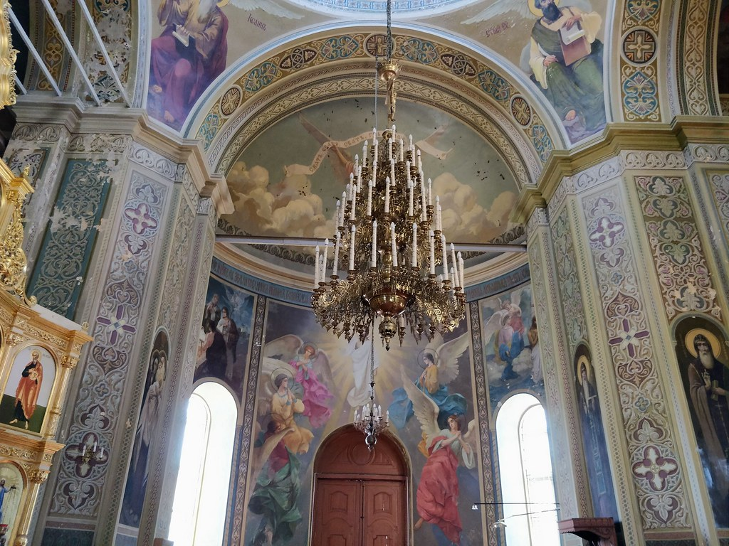 Inside a monastery church