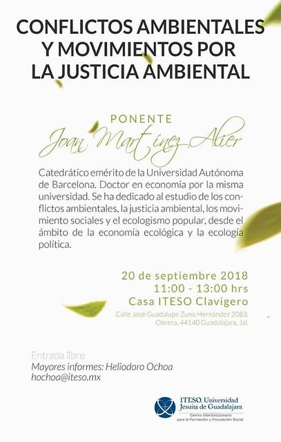 Conferencia Joan Martinez Alier en ITESO
