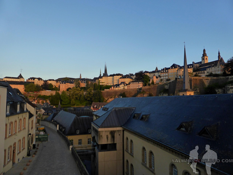 043. Barrio Alto desde el Barrio Bajo, Luxemburgo
