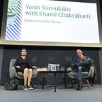 Yanis Varoufakis with Shami Chakrabarti | © Suzanne Heffron