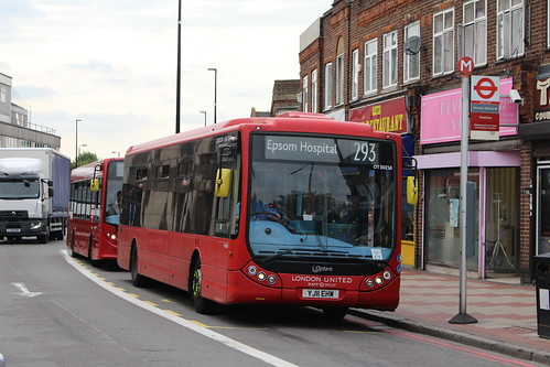 Quality Line OT30234 on Route 293, Morden Station