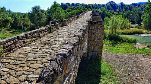 Pasarela del puente de Capella