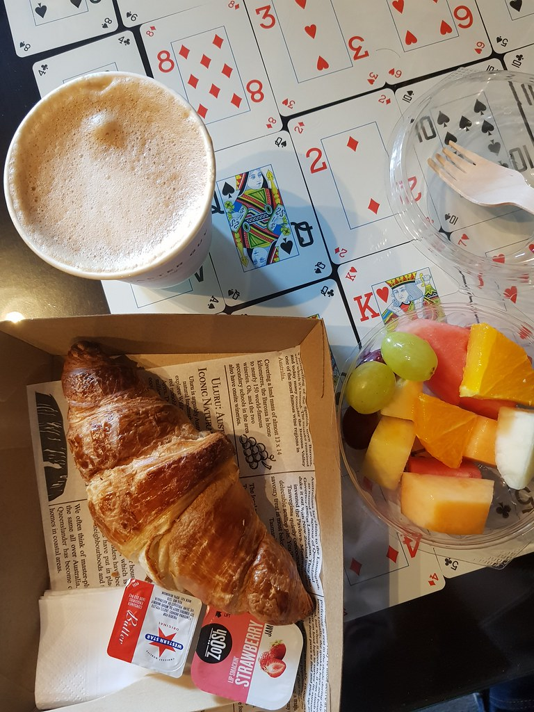 Croissant, Fruit & Latte @ Lot 51 at Ibis Sydney King Street Hotel