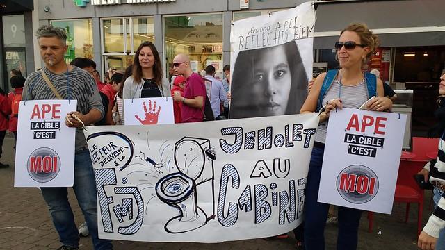 Manifestation contre la réforme APE du gouvernement wallon