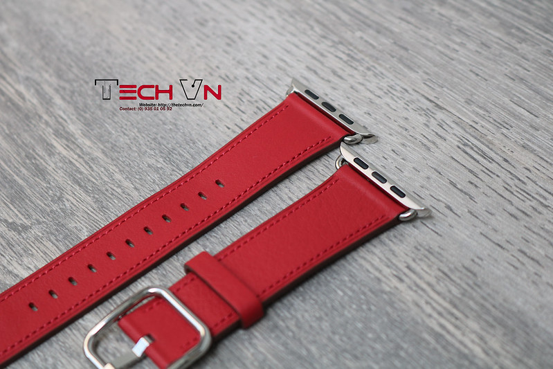 Techvn - Dây đeo apple watch Classic Buckle Red 08
