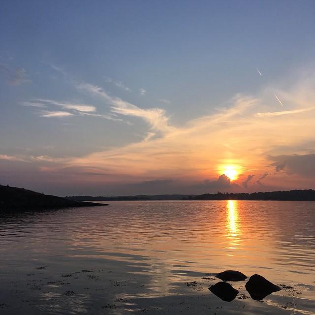 wednesday, sunset, långö beach, karlskrona