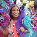 DSC_8540 Notting Hill Caribbean Carnival London Exotic Colourful Costume Girls Dancing Showgirl Performers Aug 27 2018 Stunning Ladies Flag of Trinidad