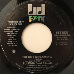 ZULEMA(AND FRIEND):I'M NOT DREAMING(LABEL SIDE-A)