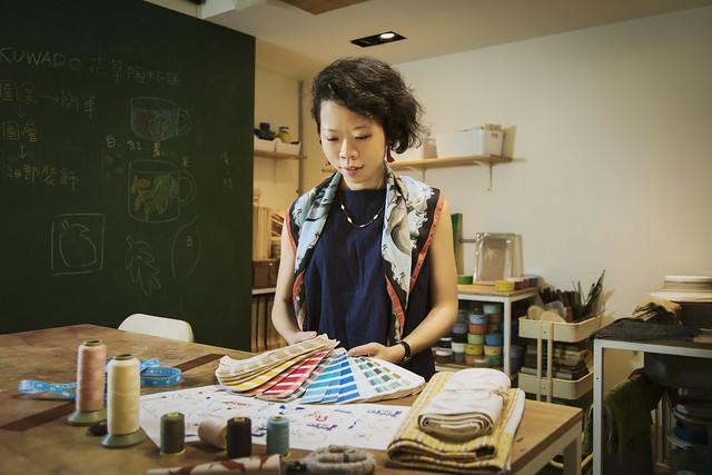 in Blooom印花樂藉由次展場限定的經典布旗 讓前來逛展的人 都能帶走一份充滿記憶的紀念品