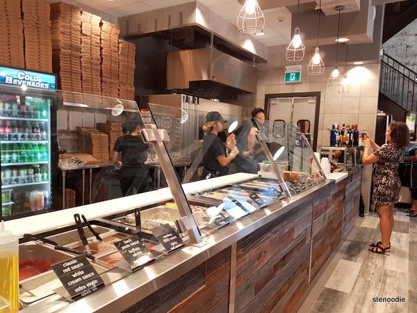 Za Pizza Bistro ordering counter