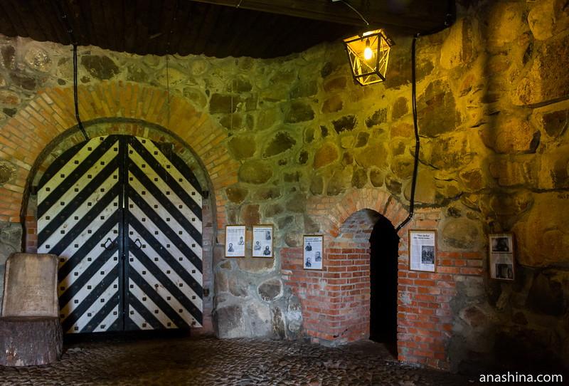 Интерьер первого яруса Круглой воротной башни, крепость Корела в Приозерске