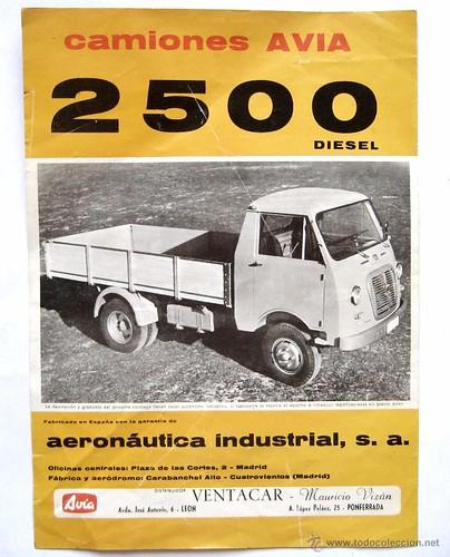 catàleg camió Avia 2500 dièsel 1964