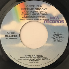 NEW EDITION:ONCE IN A LIFETIME GROOVE(LABEL SIDE-A)