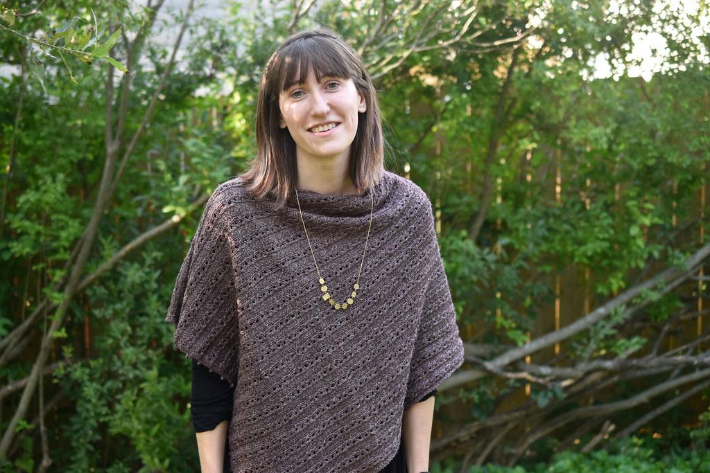 Sylvia Poncho Wrap Knitting Pattern