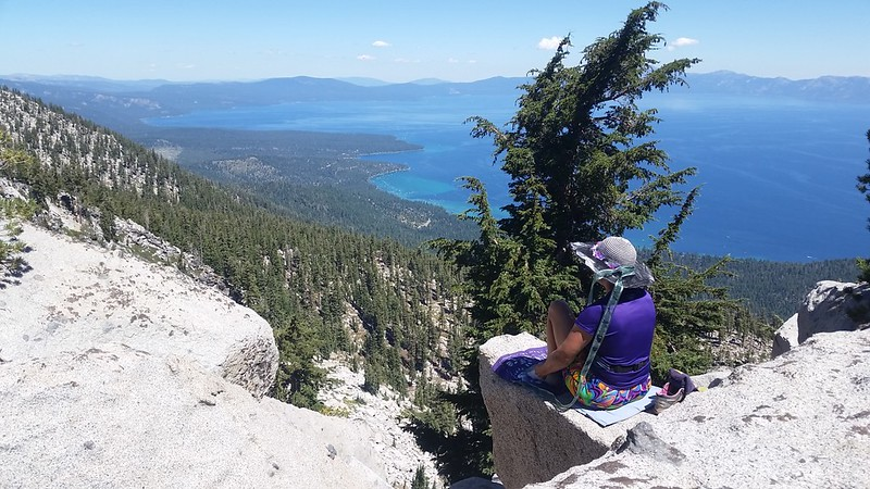 We ate lunch on the summit of Jakes Peak and enjoyed great views of Lake Tahoe