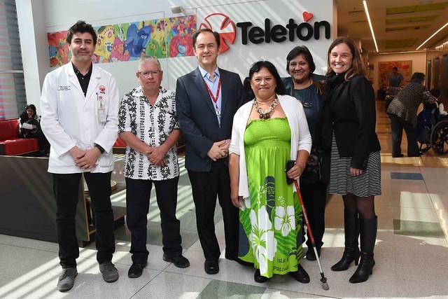 05-sep-18- Dirigenta de Rapa Nui visitó Instituto Teletón Stgo