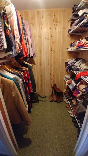 Completed walk-in closet
