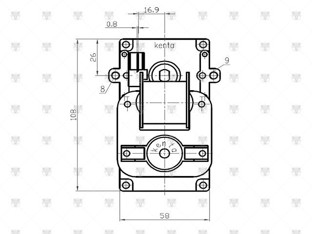 MOTORIDUTTORE STUFA A PELLET PERNO 8,5mm VELOCITA' 8,5rpm ORARIO K9117250 - 1