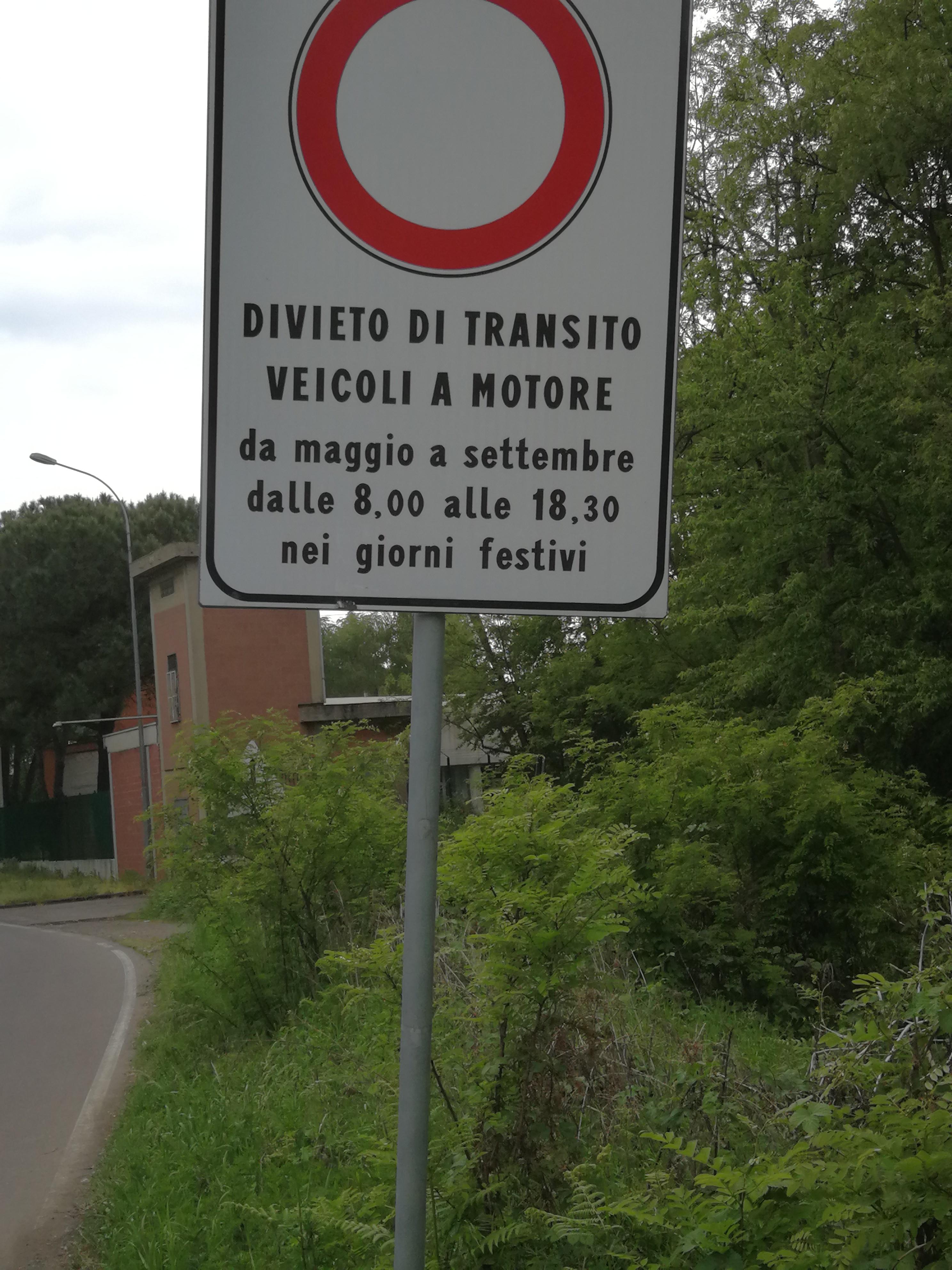 Strada chiusa Gerenzano