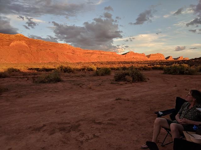 sunset on comb ridge