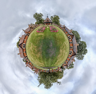 Mini planet of Bournville Almshouses (73 images)