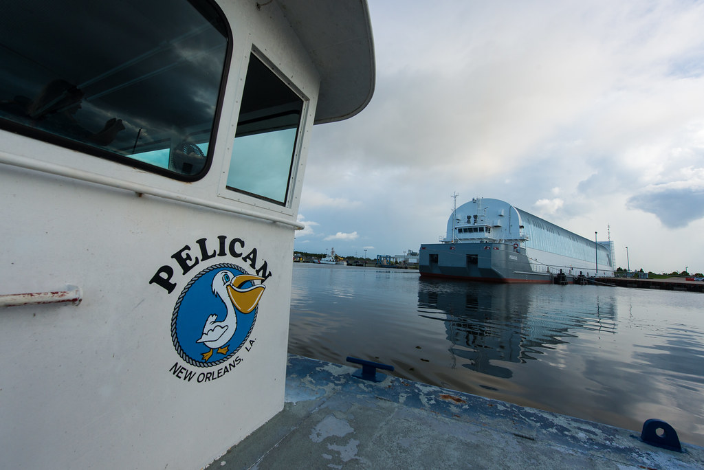 The Pegasus Barge as seen from the Pelican