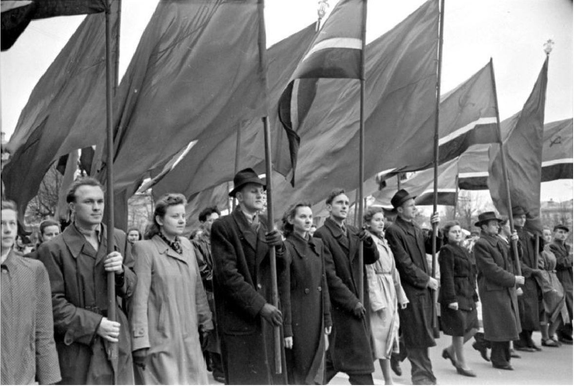 1951. Первомайская демонстрация в Вильнюсе