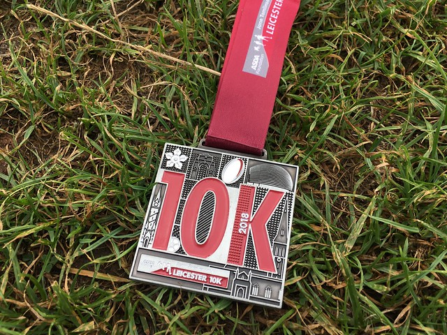 Finishers medal for Leicester 10K