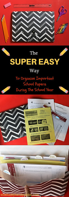 The Super Easy Way To Organize Important School Papers During The School Year! #organization #backtoschool #kids #schoolpapers #motherhood