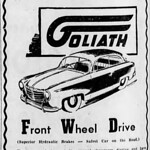Tue, 1954-03-30 00:00 - From the 30 March 1954 edition of Melbourne, Australia newspaper The Age.   Goliath was a West German brand of cars.