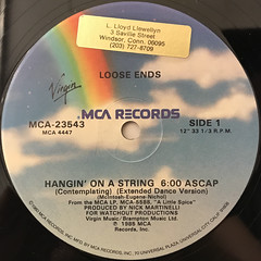 LOOSE ENDS:HANGIN' ON A STRING(LABEL SIDE-A)