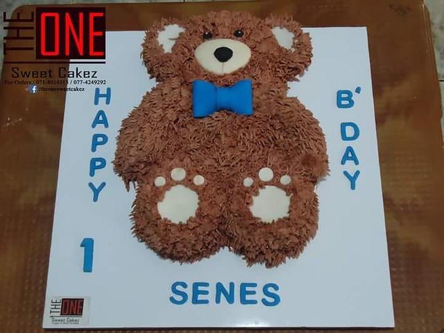 Teddy Bear Cake by Shaleen Leitan of The One - Sweet Cakez